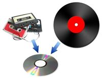 AUDIO CASSETTE & LP RECORDS CONVERSION TO CD,MP3,USB or HD