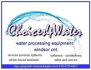 Choices4water - Reverse Osmosis sales and service 519-819-4451