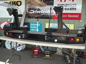 NISSAN NAVARA D22  REAR BAR WITH DOUBLE WHEEL CARRIER