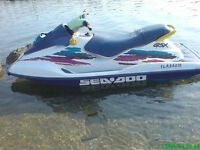 1996 Sea-Doo GSX 110Hp with Double Trailer, Mint-Very Low Hours