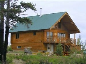 Lakefront Log Chalet