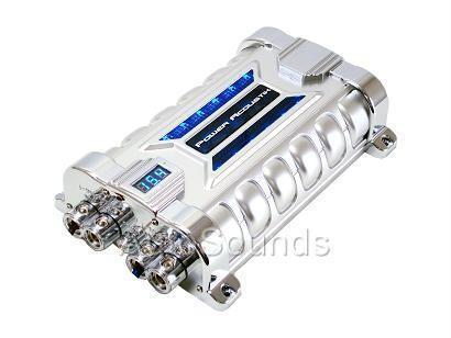NEW POWER ACOUSTIK PCX-30F 30 FARAD DIGITAL CAPACITOR BLUE VOLT METER