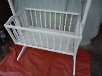 Crib white wooden toy/ornamantal