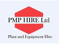 Mini digger and landscaping equipment for hire