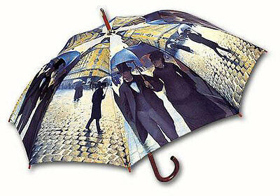 LaSelva Designs Stick Umbrella - Caillebotte Rainy Day