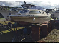 Shetland family four boat project cabin cruiser outboard NO trailer