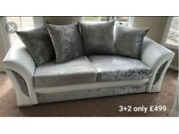 stylish Shannon 3&2 sofas with MATCHING FOOTSTOOL