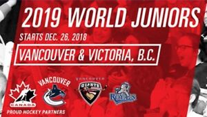 2019 World Junior Championship - 2 Tickets - Row 1 Glass Seats