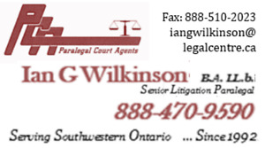 PARALEGAL AND LITIGATION SERVICES - KITCHENER AREA