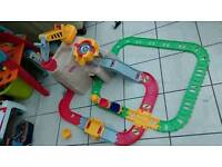 Track with cars