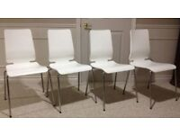 4 used IKEA Gilbert chairs in white
