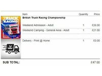 Truck racing tickets