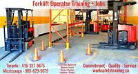 Forklift Training Programs + Licence + JOB Help Earn $14-$18/hr