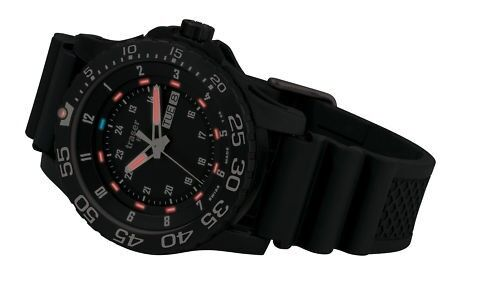 traser swiss H3 watch 100335 P6600 Elite Red tritium tactical rubber strap