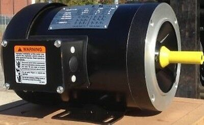 1.5 HP Electric Motor  56C Frame 3 Phase TEFC 208-230/460 3600 RPM Rolled Steel
