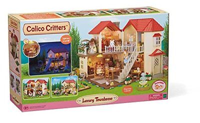 Calico Critters Luxury Townhome, New, Free Ship