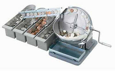 Klopp Model Sm Manual Coin Sorter Machine - Sorts Wet Coins - Free Shipping