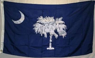 5x8 Embroidered Sewn State of South Carolina 600D Nylon Flag 5'x8'