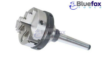 3 Jaw 65mm Self-centering Chuck Small With Mt3 Mounting Shank Arbor Lathe