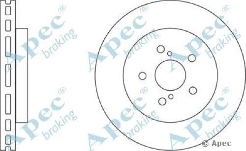 1x OE Quality Replacement Front Axle Apec Vented Brake Disc 5 Stud 319mm - Pair