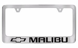 chevrolet malibu chrome metal license plate frame