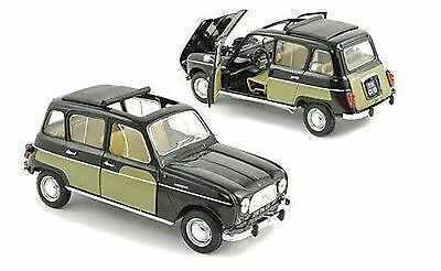 1:18 Novelty Norev 1963 Renault 4L Parisienne Black and Yellow