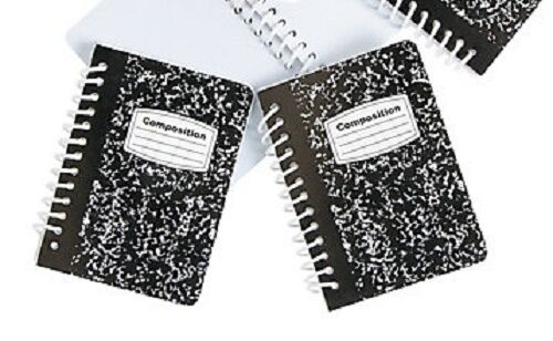 "Lovvbugg 2 Mini Spiral Composition Note Book s for 18"" American Girl Doll School Accessory"