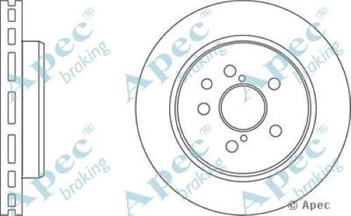 1x OE Quality Replacement Rear Axle Apec Vented Brake Disc 5 Stud 310mm - Pair