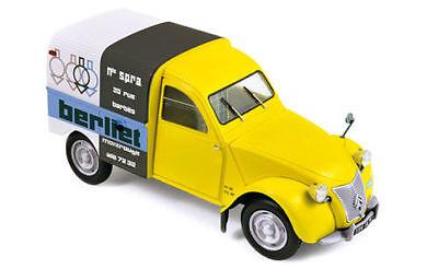 NOREV 1:18 1956 CITROEN 2CV FOURGONNETTE BERLIET DIECAST CAR MODEL 181600 YELLOW