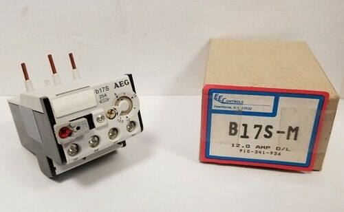 EE Controls / AEG Thermal Overload Relay B17S-M / 910-341-936