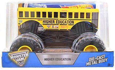 New 2017 Hot Wheels Monster Jam Trucks 1 24 Higher Education School Bus Die Cast