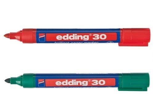 Papermarker Edding 30 Brilliant Strichbreite 1,5-3mm, wasserfest Grün, Rot
