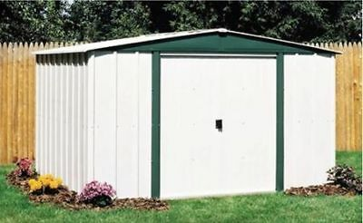Shed Storage Kit Metal Garden Building Doors Steel Outdoor DIY Backyard Large