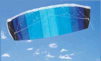 120cm Blau Drachen Parafoil Stunt Sport Doppel Doppel-Schnur Rahmenlos Einfach