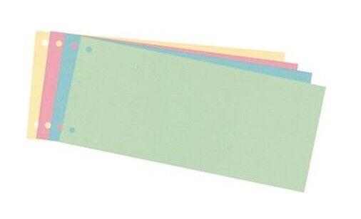 100 Trennstreifen Aktenfahnen Karton 240 x 105 mm, 4 farbig sortiert