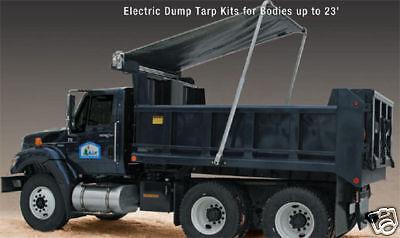 Electric ALUMINUM Arm 4 Spring Dump Truck Flip Tarp System kit  23' 1.5 HP MOTOR