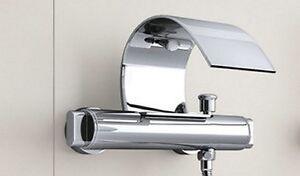 A parete bagno rubinetto cascata vasca rubinetto miscelatore con doccia i 90405 ebay - Rubinetto a parete bagno ...