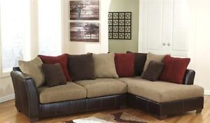 2 PIECE SECTIONAL + OTTOMAN + CARPET (Pick up only)
