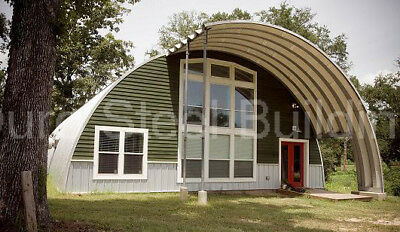 Durospan Steel 51x30x17 Metal Quonset Hut Diy Home Building Kit Open Ends Direct