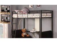 Single metal studio bunk bed