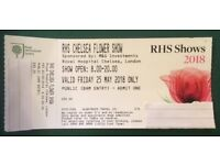 1 x ticket for the RHS Chelsea Flower Show Friday 25 May 8.00-20.00 £77