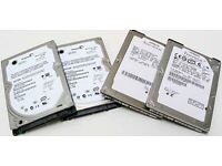 SATA Laptop Hard Drive, 160gb, 250gb