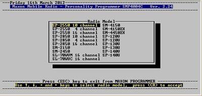 MAXON SMP4004c v2.24 (DOS) for SM-2450, SP-130, SM-4150 (Smp Series)