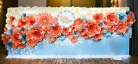 Personalize paper backdrop wedding