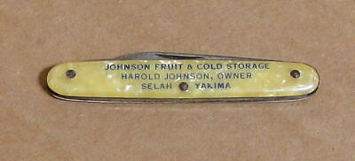 Vintage Autopoint Advertising Pocketknife: Johnson Fruit & Cold Storage Yakima
