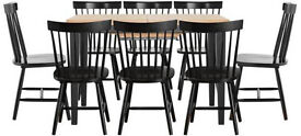 Hygena Luna Extendable Dining Table and 8 Chairs