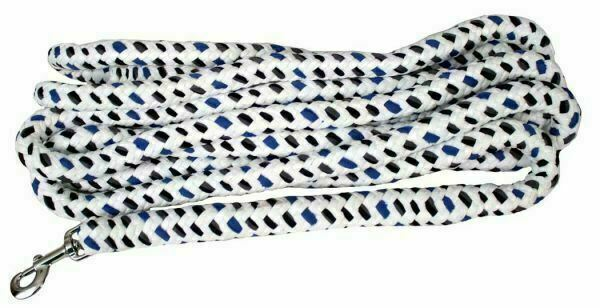NEW 20 Foot Cotton Rope Rope Horse Lunge Line - with chrome plate snap