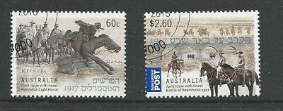 1 set 2013 The Battle of Beersheba - Joint Issue with Israel set of 2 CTO (191)