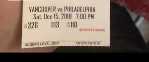 Selling December 15th ice hockey game ticket