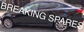 Lexus is220d is250 any black door complete unit 05-11 breaking spares is220 d is 250